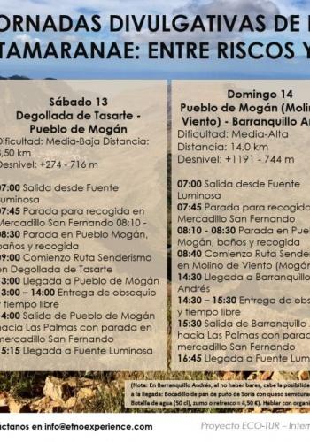 Mogán organiza las segundas jornadas de formación e información de la Macrorruta 'Tamaranae: entre Riscos y Barrancos'